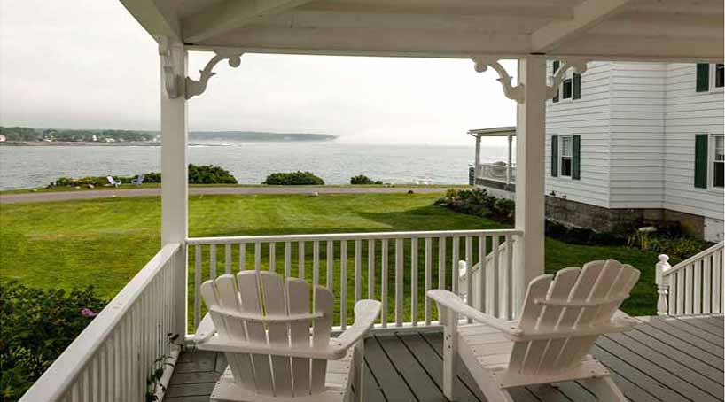 Sea View - Exterior Porch View 1 - York Beach, Maine Vacation Rental