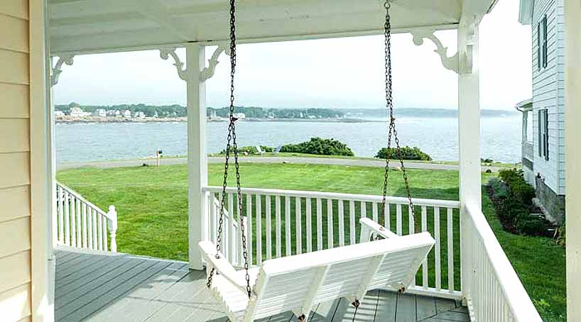Sea View - Exterior Porch View 2 - York Beach, Maine Vacation Rental