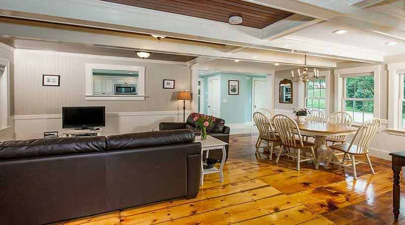 Sea View - Living and Dining Areas - York Beach, Maine Vacation Rental