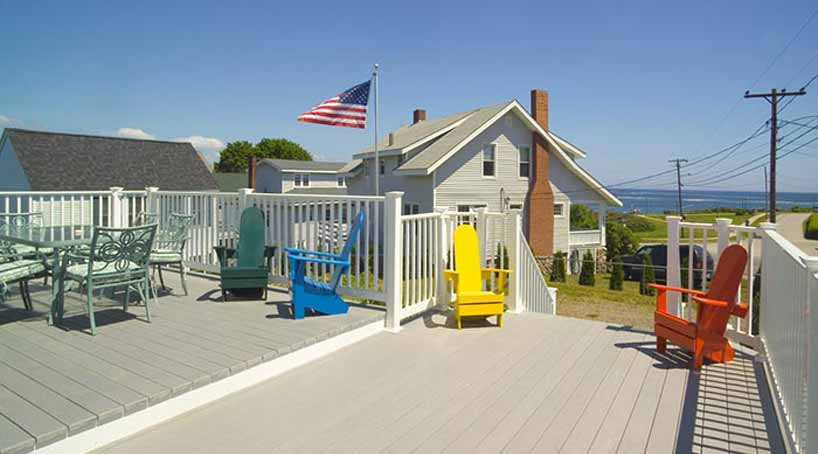 OLB Main House Deck - Vacation Rental at York, Maine