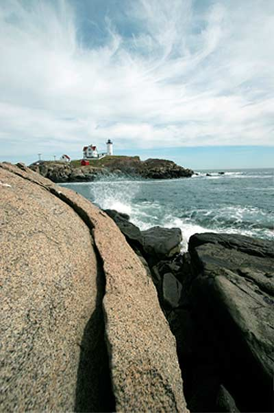 Nubble White House near York Beach, Maine