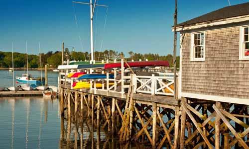 Wharf in Maine