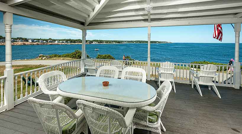 Sand and Surf View from Deck - York, Maine Vacation Rental