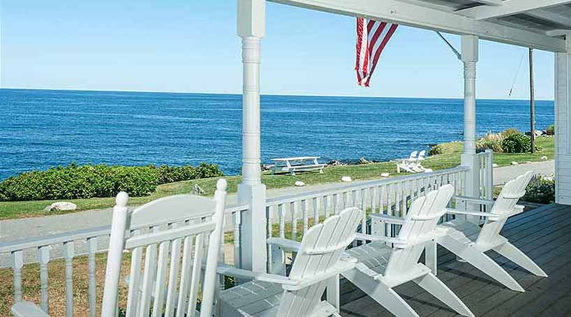 Sand and Surf Porch View - York, Maine Vacation Rental